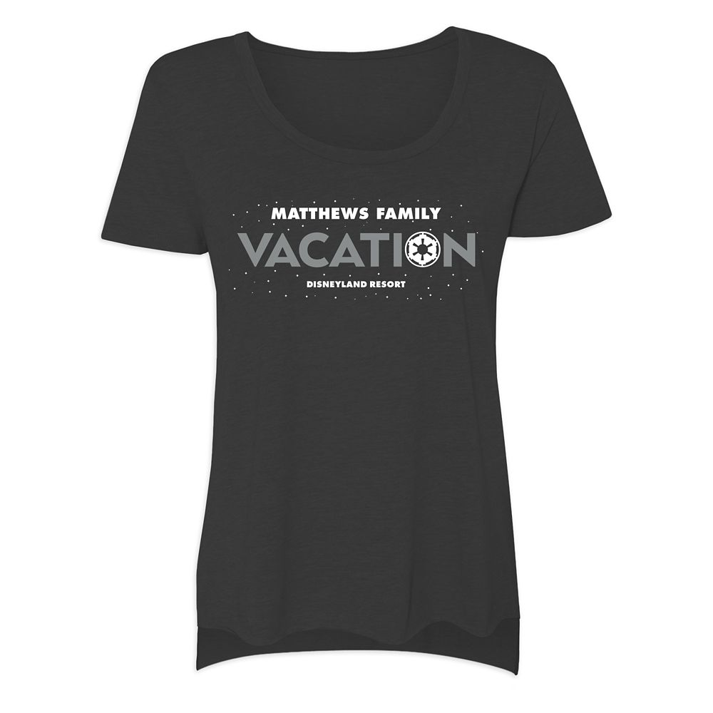 Women's Star Wars Empire Family Vacation T-Shirt  Disneyland  Customized