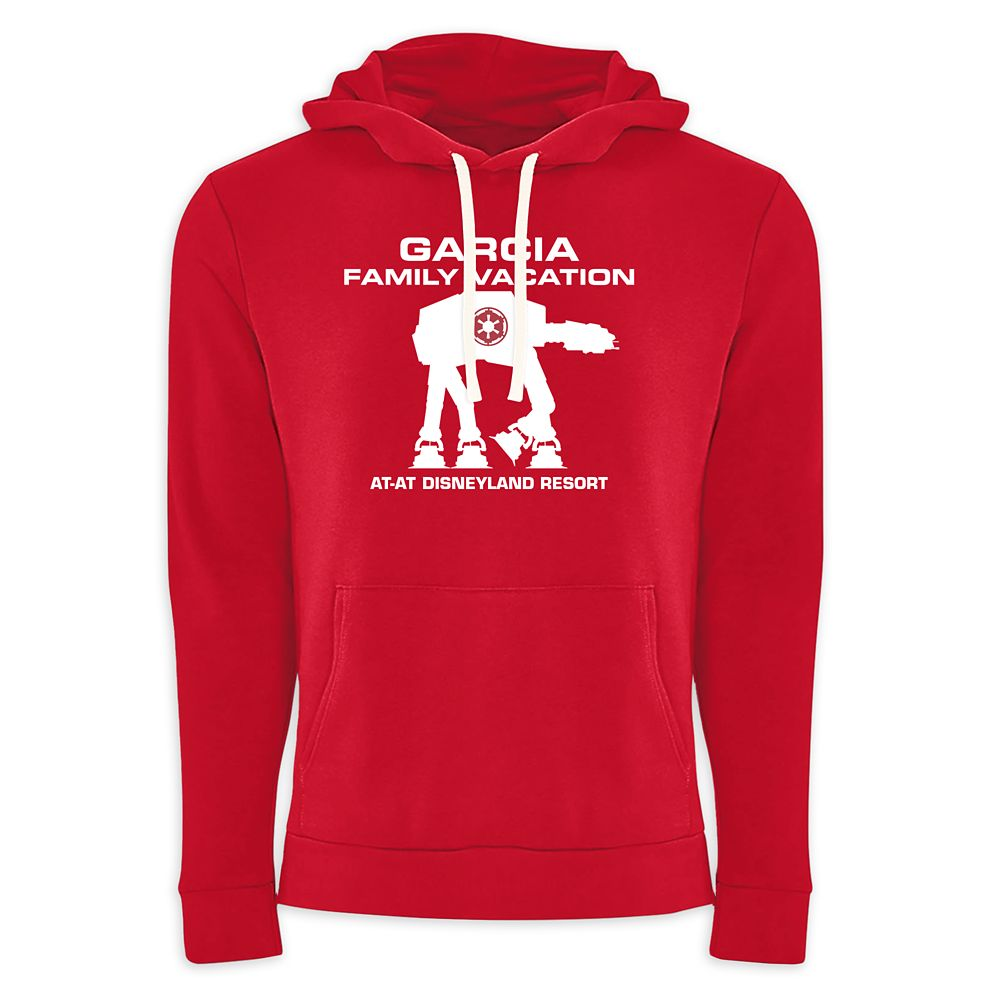 Adults' Star Wars AT-AT Family Vacation Pullover Hoodie  Disneyland  Customized