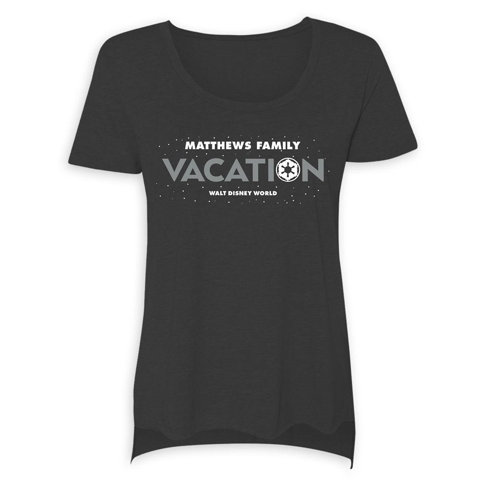 Women's Star Wars Empire Family Vacation T-Shirt  Walt Disney World  Customized