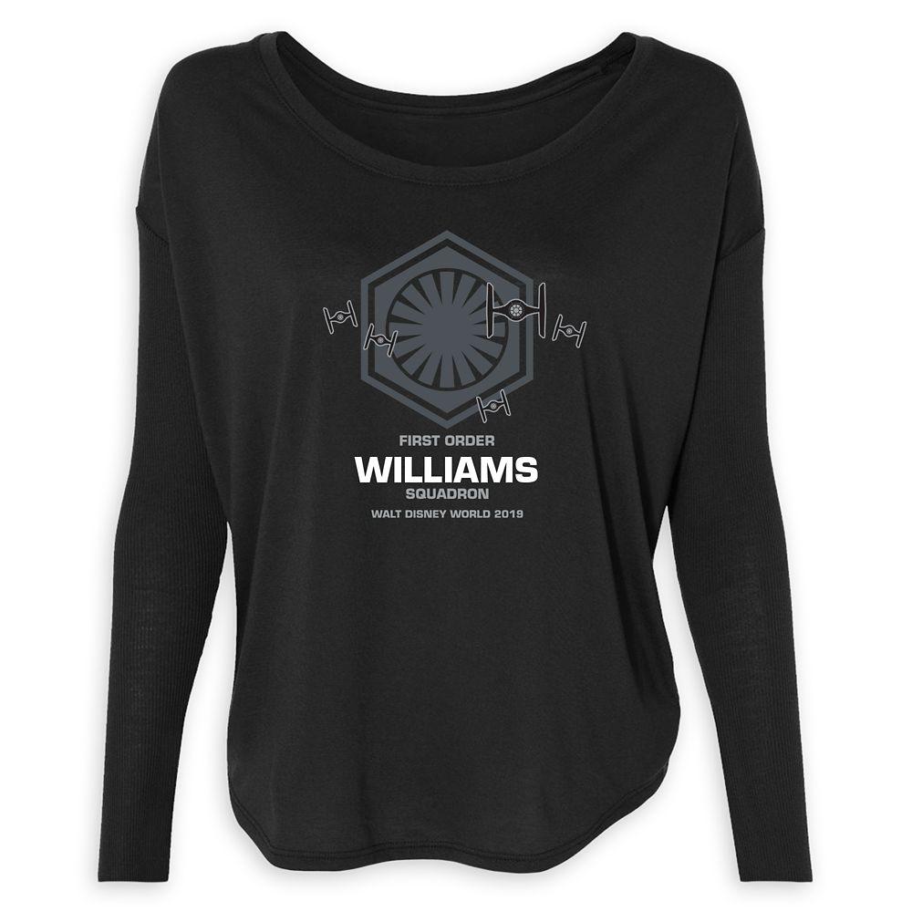 Women's Star Wars First Order Squadron Long Sleeve T-Shirt  Walt Disney World  Customized