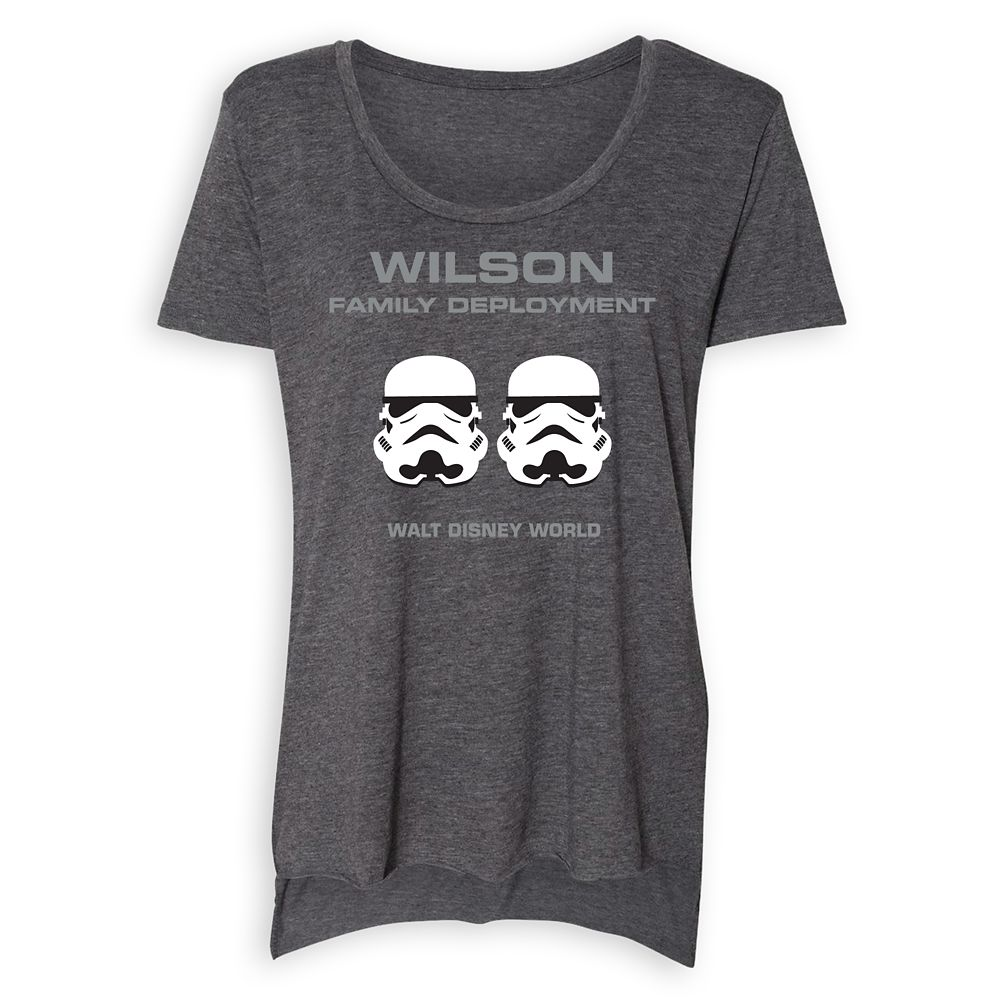 Women's Star Wars Stormtrooper Family Deployment Scoop Neck T-Shirt – Walt Disney World – Customized