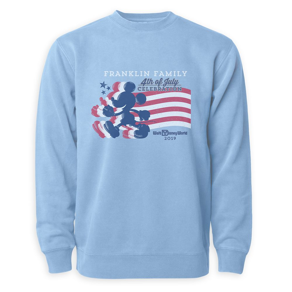 Adults' Mickey Mouse Silhouette 4th of July Pullover – Walt Disney World – Customized