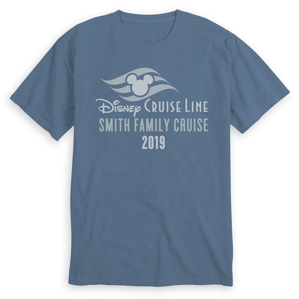 Adults' Disney Cruise Line Logo Family Cruise 2019 Heathered T-Shirt  Customized