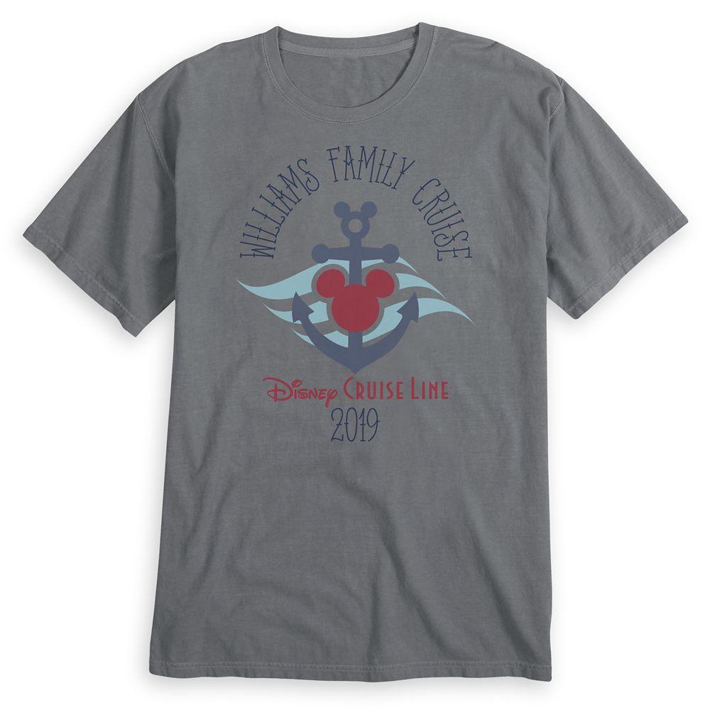 Adults' Disney Cruise Line Anchor Family Cruise 2019 T-Shirt  Customized