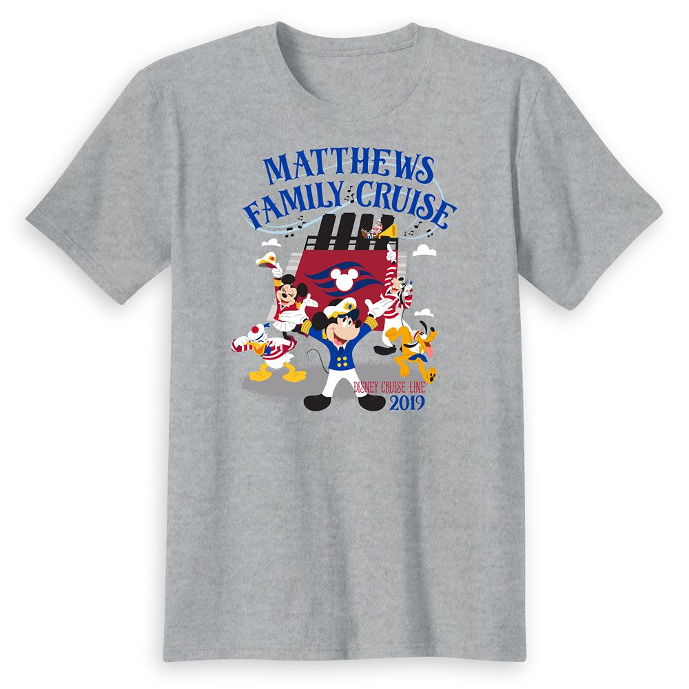 Adults' Captain Mickey Mouse and Crew Disney Cruise Line Family Cruise 2019 T-Shirt  Customized
