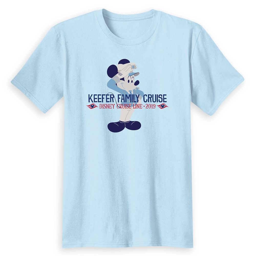 Adults' Captain Mickey Mouse Disney Cruise Line Family Cruise 2019 T-Shirt  Customized
