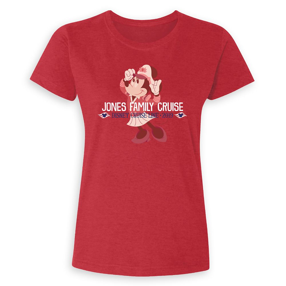 Ladies' Captain Minnie Mouse Disney Cruise Line Family Cruise 2019 T-Shirt  Customized
