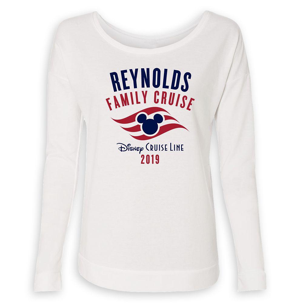 Women's Disney Cruise Line Logo Family Cruise 2019 Long Sleeve T-Shirt  Customized