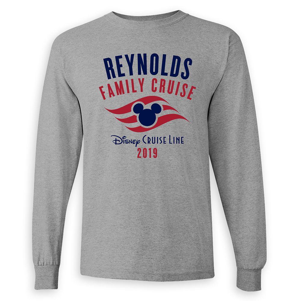 Adults' Disney Cruise Line Logo Family Cruise 2019 Long Sleeve T-Shirt  Customized