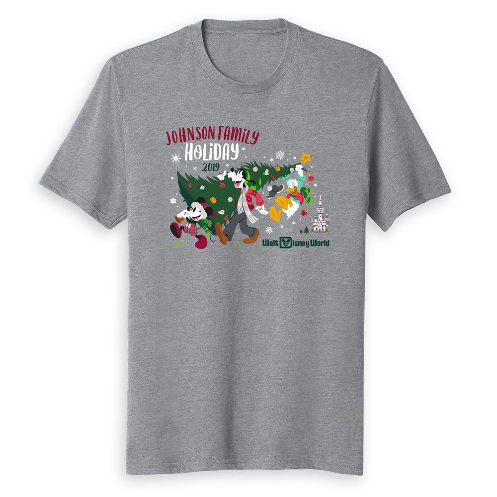Adults' Walt Disney World Holiday 2019 Mickey & Friends T-Shirt – Customized