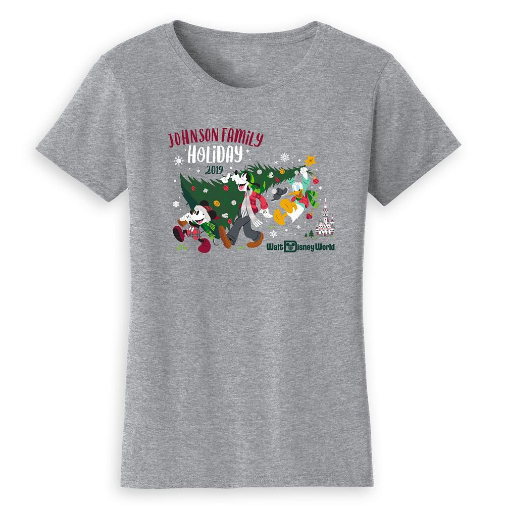 Women's Walt Disney World Holiday 2019 Mickey & Friends T-Shirt – Customized