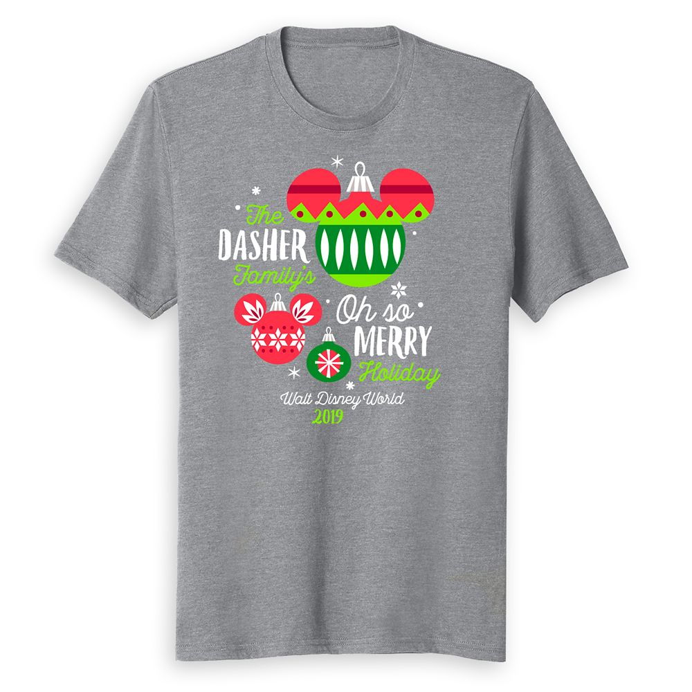 Adults' Walt Disney World Oh So Merry Holiday 2019 T-Shirt – Customized