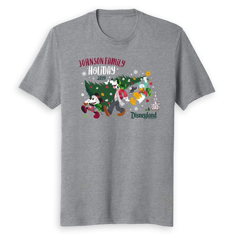 Adults' Disneyland Holiday 2019 Mickey & Friends T-Shirt – Customized