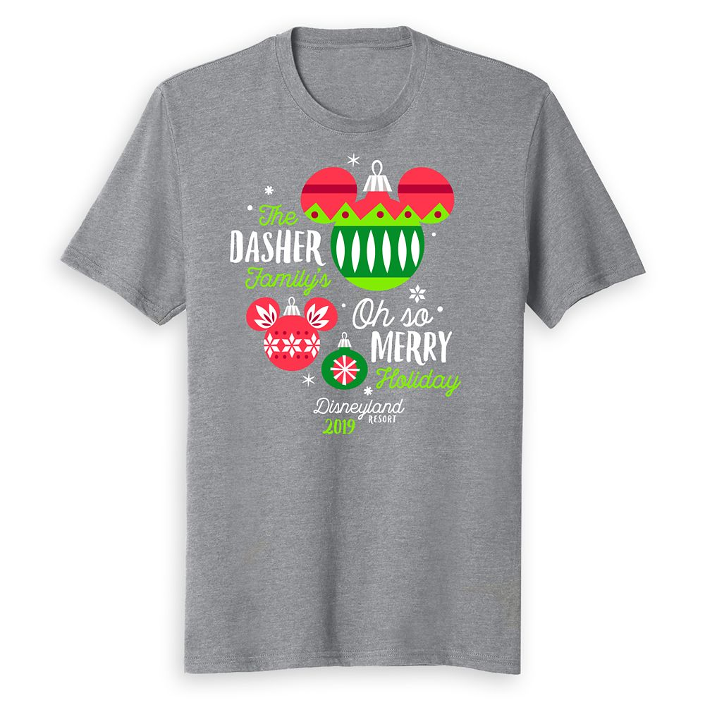 Adults' Disneyland Oh So Merry Holiday 2019 T-Shirt – Customized