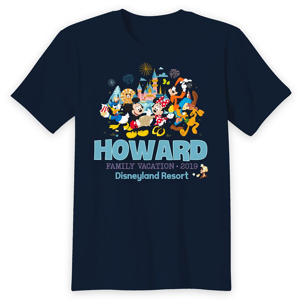 Adults' Disneyland Mickey Mouse and Friends Family Vacation T-Shirt – Customized