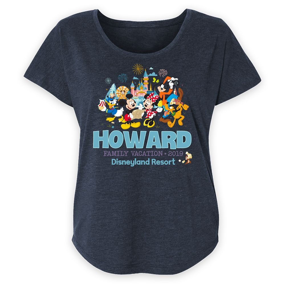 Women's Disneyland Mickey Mouse and Friends Family Vacation T-Shirt – Customized