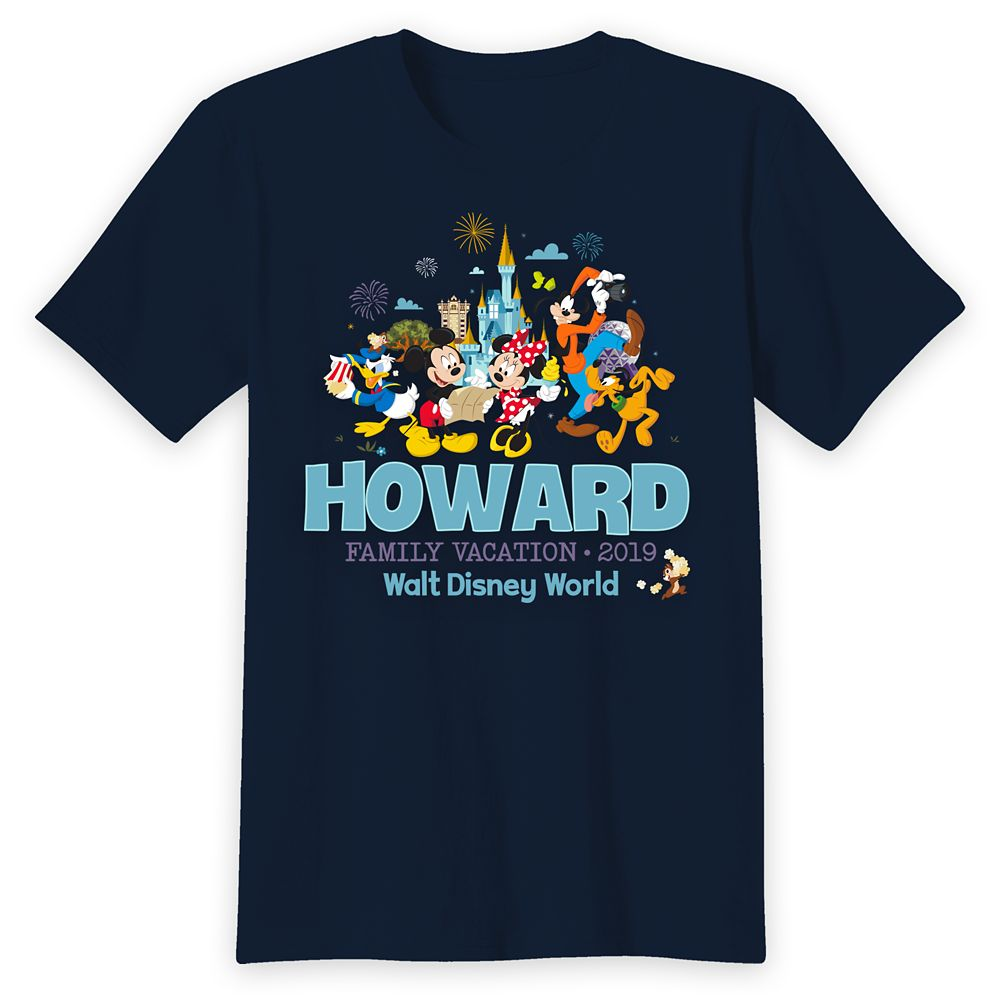Adults' Walt Disney World Mickey Mouse and Friends Family Vacation T-Shirt – Customized