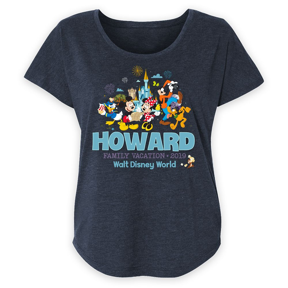 Women's Walt Disney World Mickey Mouse and Friends Family Vacation T-Shirt – Customized