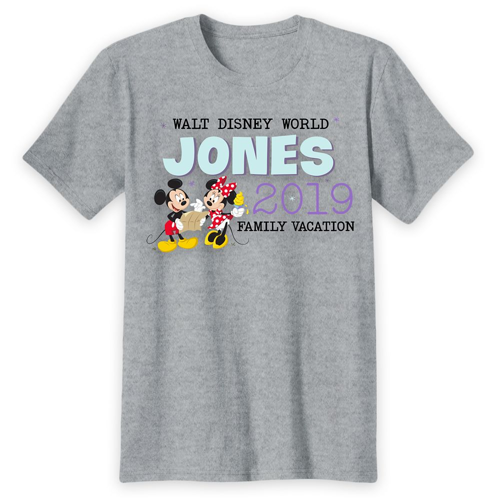 Adults' Walt Disney World Mickey and Minnie Mouse Family Vacation T-Shirt – Customized