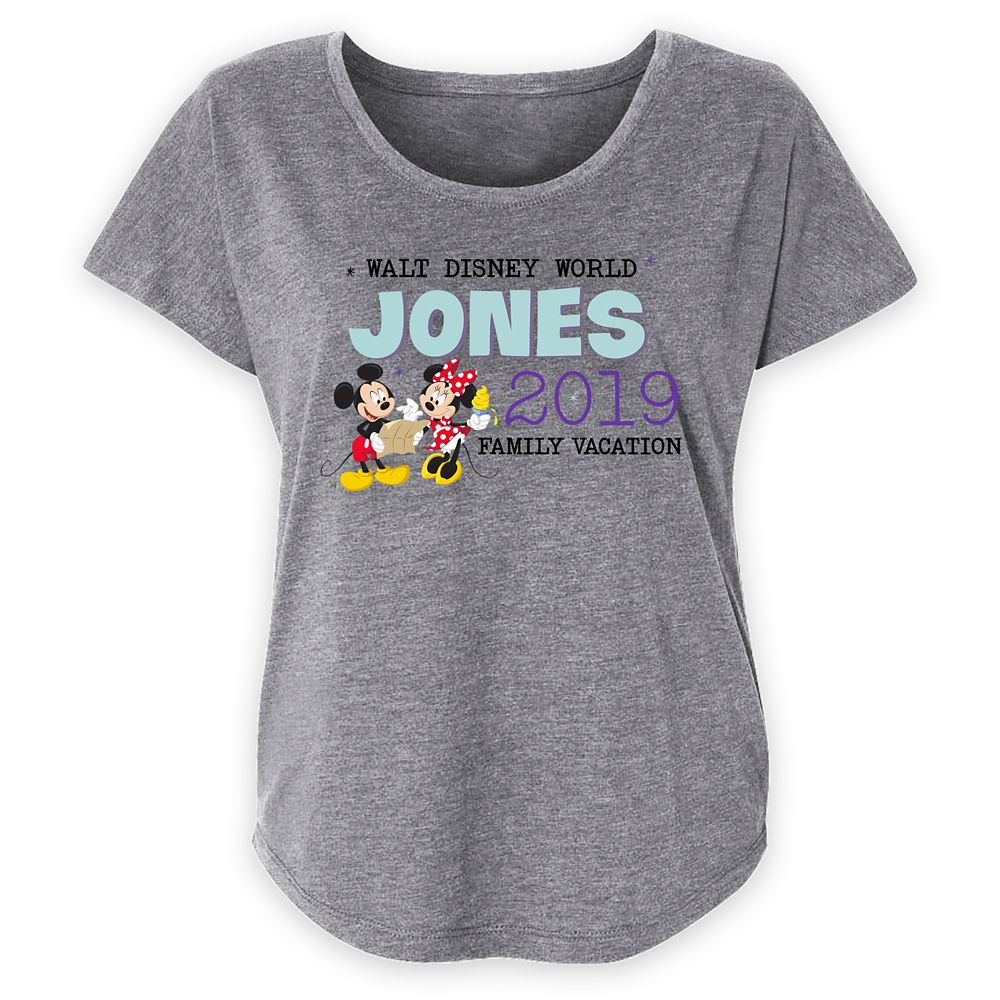 Women's Walt Disney World Mickey and Minnie Mouse Family Vacation T-Shirt – Customized