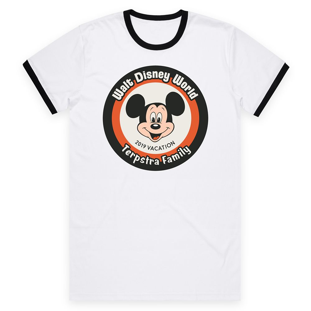 Adults' Walt Disney World Mickey Mouse 2019 Vacation Ringer T-Shirt – Customized