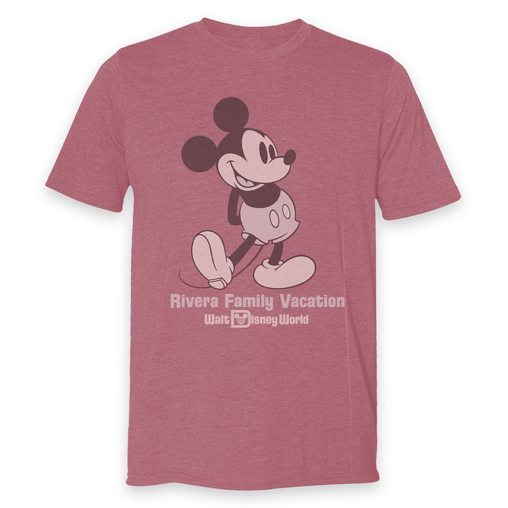 Adults' Walt Disney World Mickey Mouse Family Vacation Heathered T-Shirt – Customized