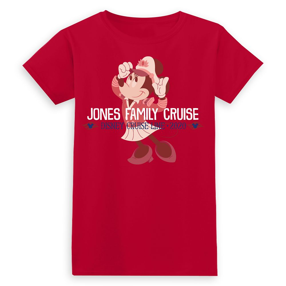 Ladies' Captain Minnie Mouse Disney Cruise Line Family Cruise 2020 T-Shirt  Customized
