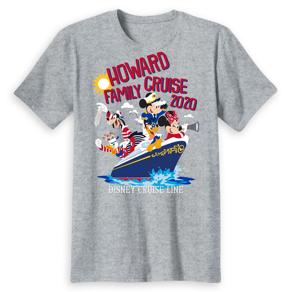 Adults' Disney Cruise Line Mickey Mouse and Friends Family Cruise 2020 T-Shirt – Customized