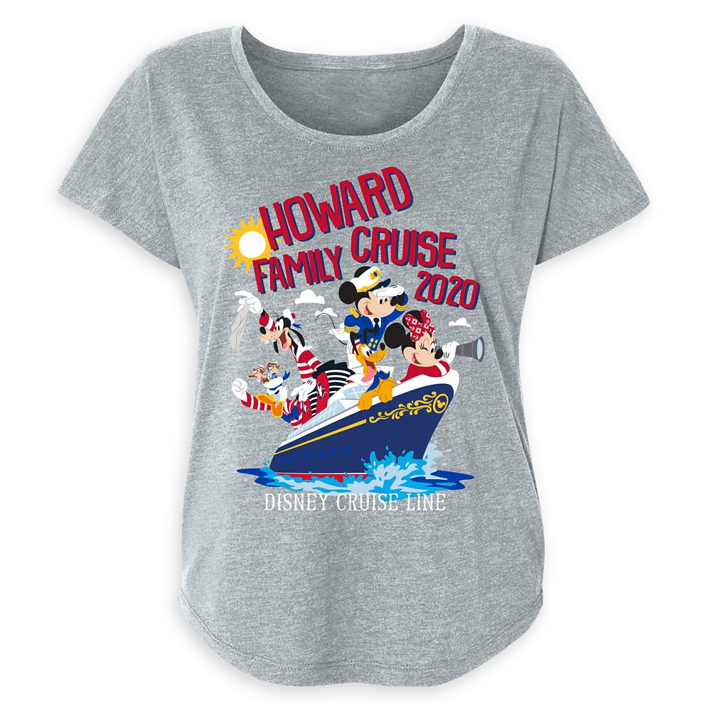 Women's Disney Cruise Line Mickey Mouse and Friends Family Cruise 2020 T-Shirt  Customized