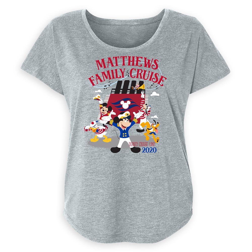Women's Disney Cruise Line 2020 Captain Mickey Mouse and Crew Family Cruise T-Shirt  Customized