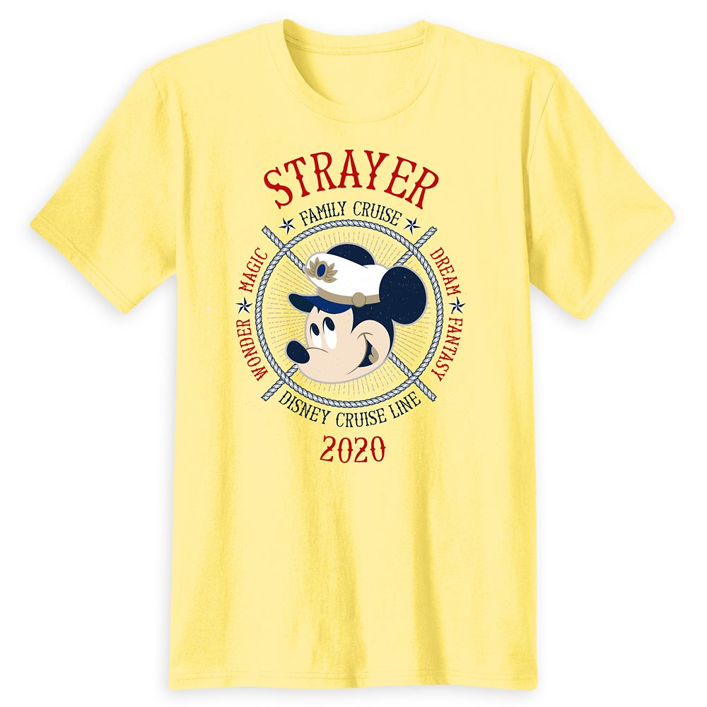 Adults' Captain Mickey Mouse Disney Cruise Line Ships Family Cruise 2020 T-Shirt  Customized