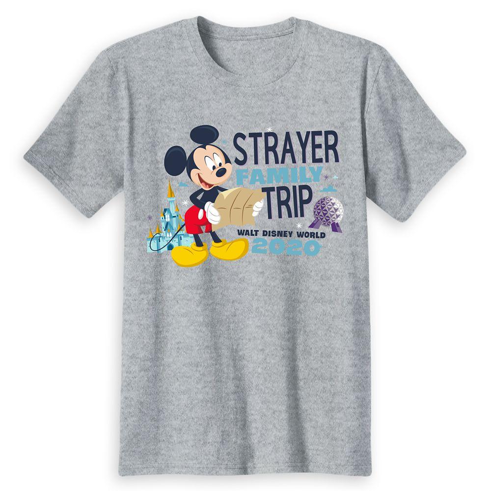 Adults' Walt Disney World Resort 2020 Mickey Mouse Family Trip T-Shirt – Customized