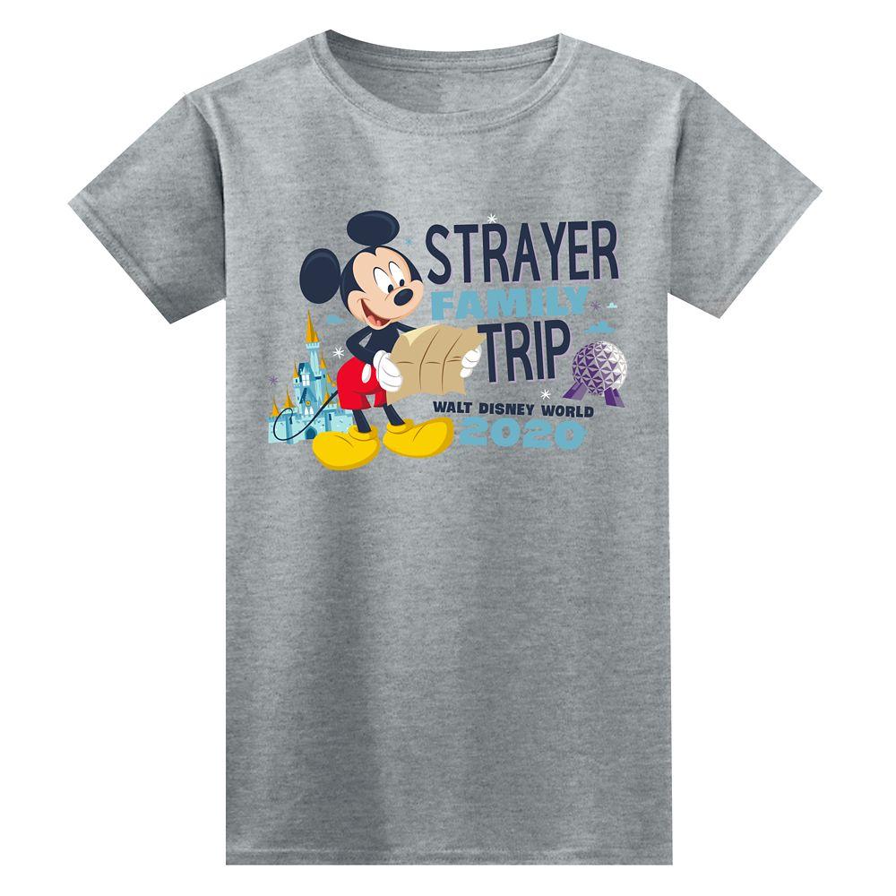 Women's Walt Disney World Resort 2020 Mickey Mouse Family Trip T-Shirt  Customized