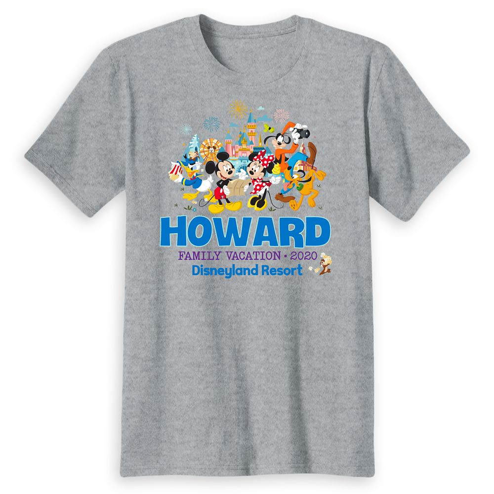 Adults' Disneyland Mickey Mouse and Friends Family Vacation 2020 T-Shirt – Customized