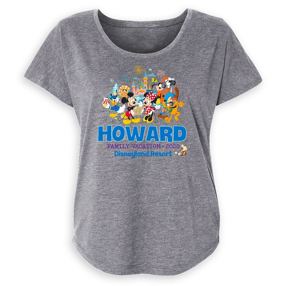 Women's Disneyland Mickey Mouse and Friends Family Vacation 2020 T-Shirt – Customized