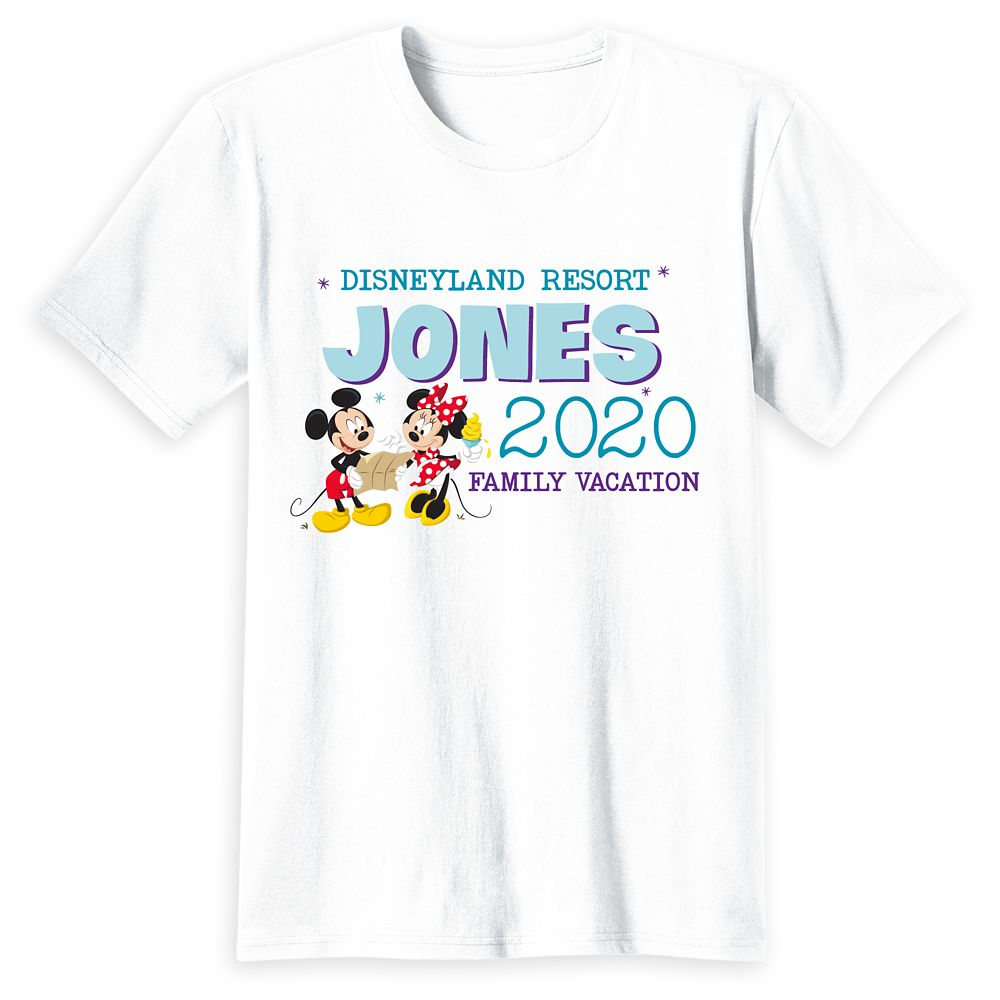Adults' Disneyland Mickey and Minnie Mouse 2020 Family Vacation T-Shirt – Customized