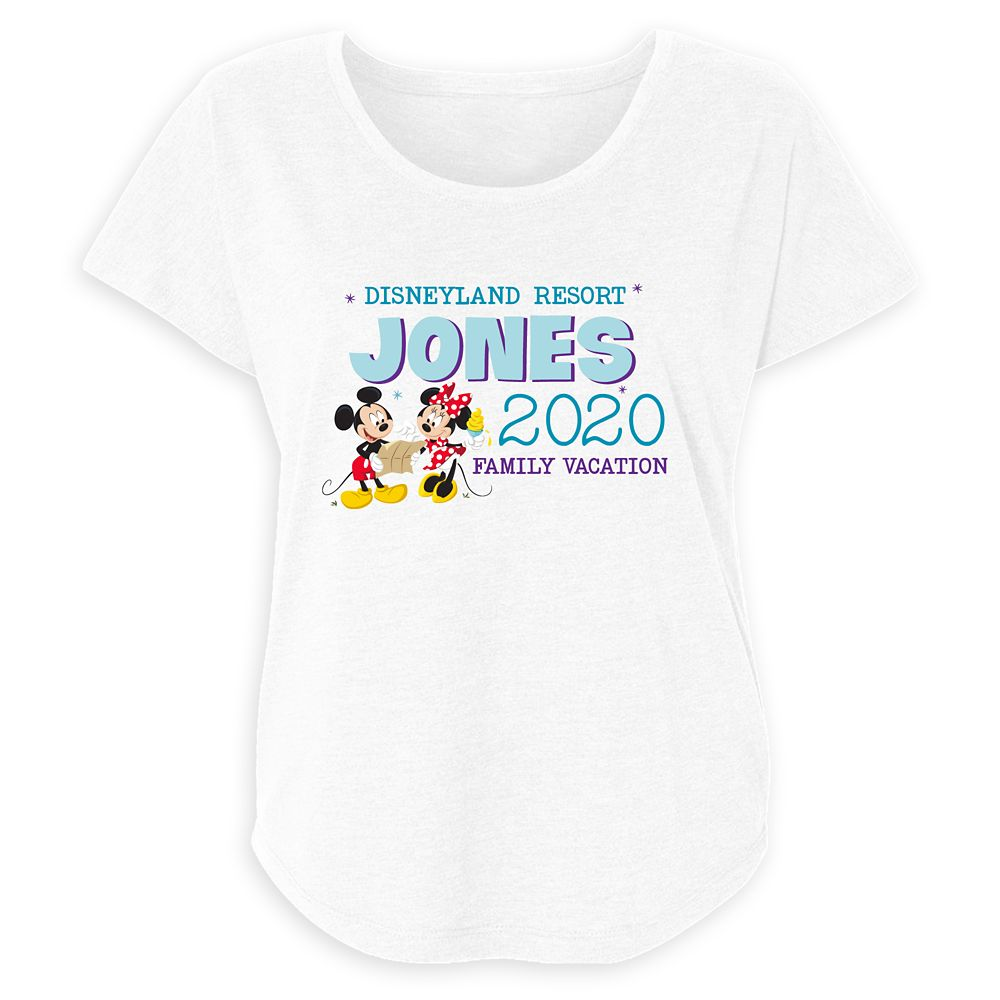 Women's Disneyland Mickey and Minnie Mouse 2020 Family Vacation T-Shirt – Customized