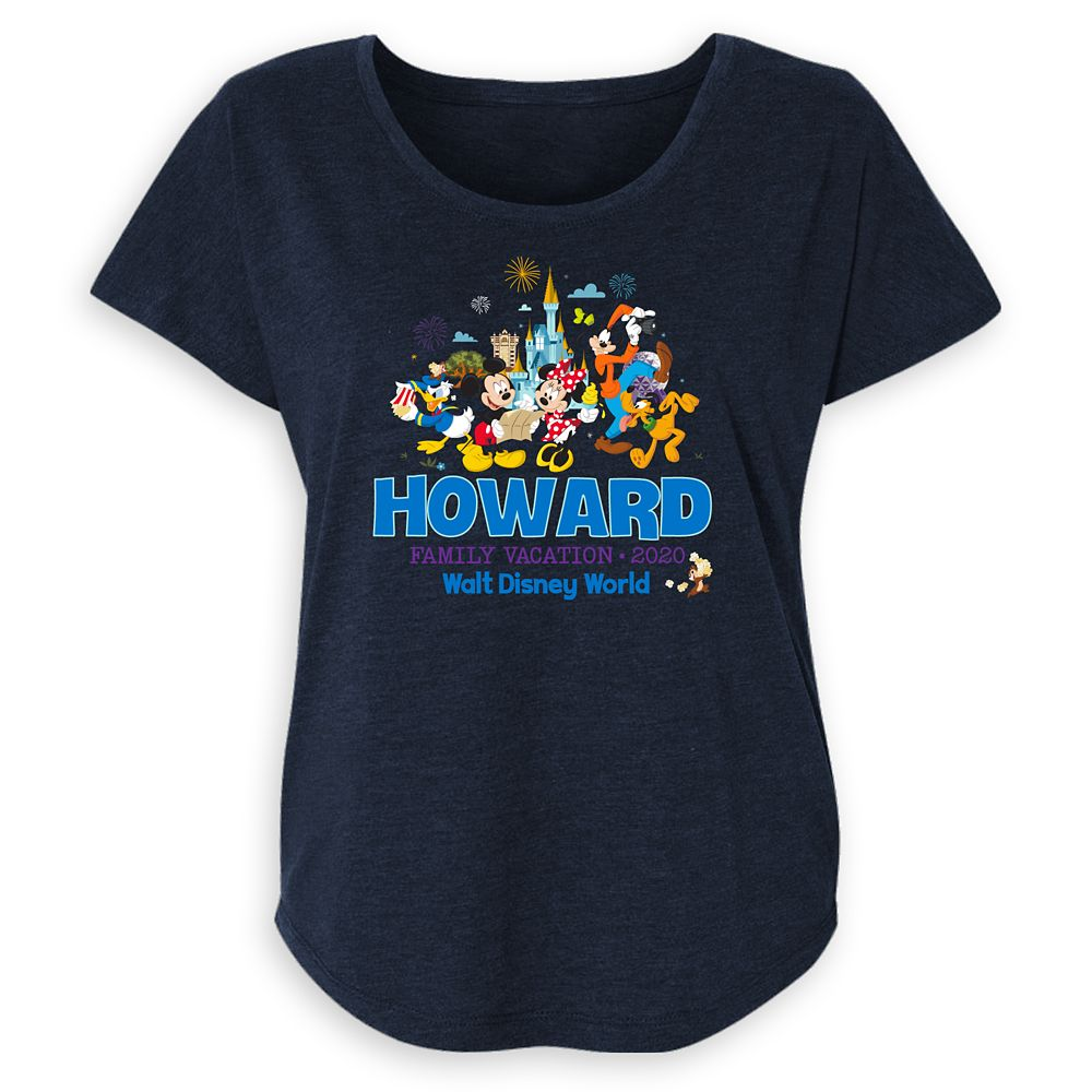Women's Walt Disney World Mickey Mouse and Friends Family Vacation 2020 T-Shirt – Customized