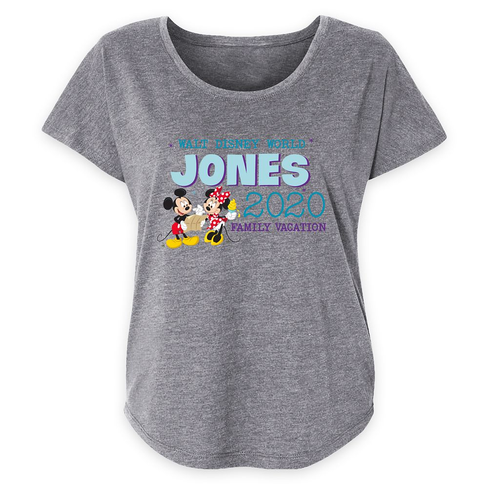 Women's Walt Disney World Mickey and Minnie Mouse 2020 Family Vacation T-Shirt – Customized
