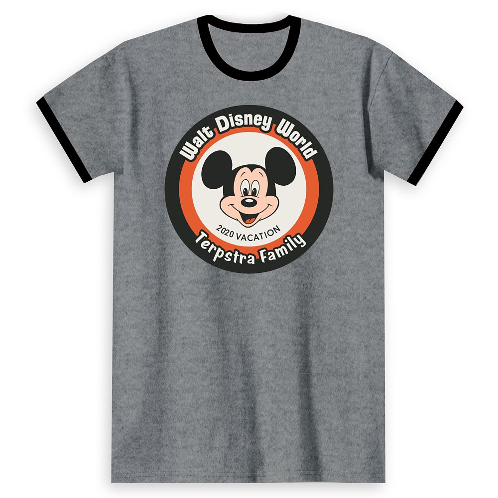 Adults' Walt Disney World Mickey Mouse 2020 Vacation Ringer T-Shirt – Customized