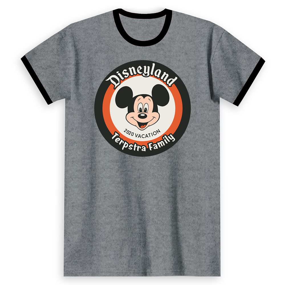 Adults' Disneyland Mickey Mouse 2020 Vacation Ringer T-Shirt – Customized