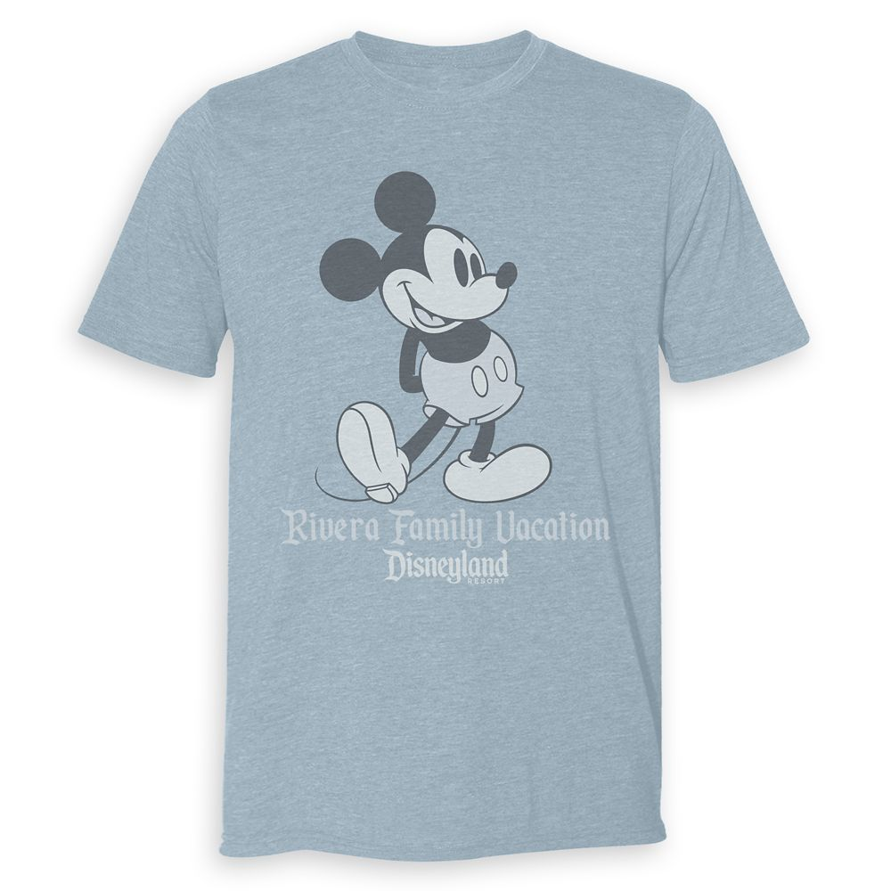Adults' Disneyland Mickey Mouse Family Vacation Heathered T-Shirt – Customized