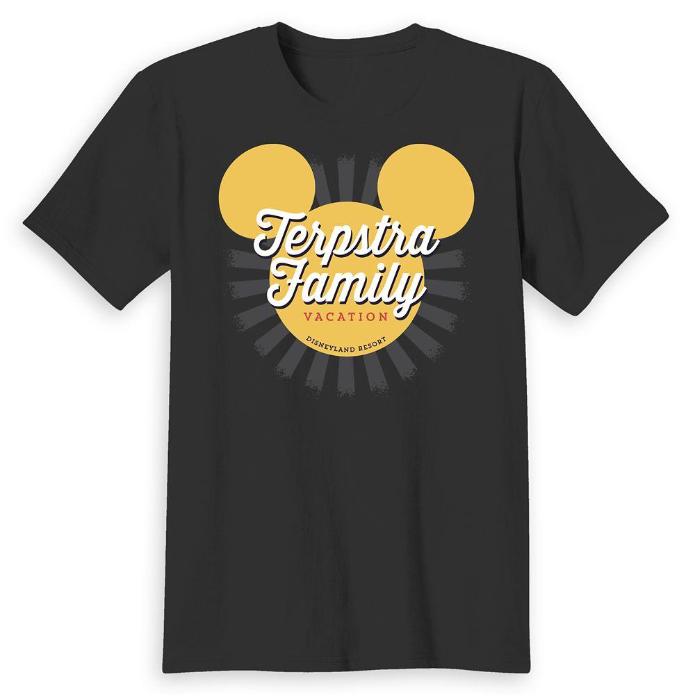 Adults' Disneyland Mickey Mouse Sunburst Family Vacation T-Shirt – Customized