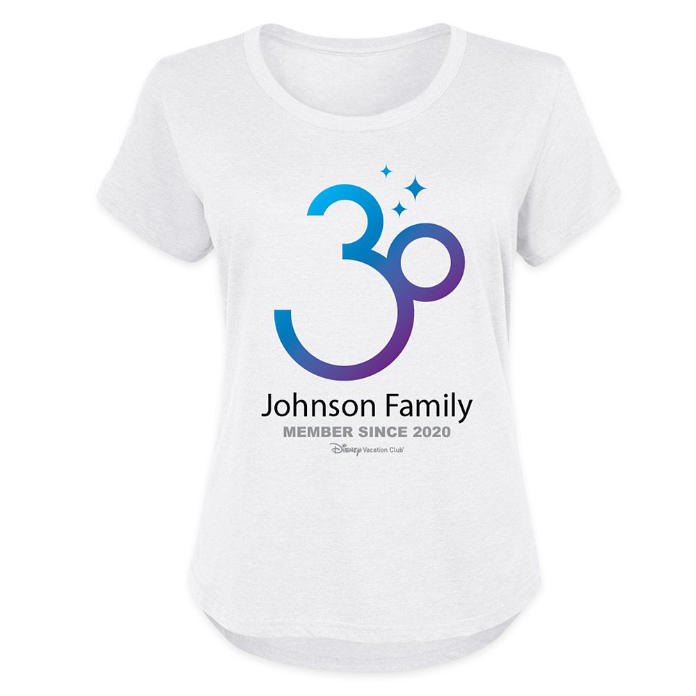 Disney Vacation Club 30th Anniversary Family T-Shirt for Women – Customized