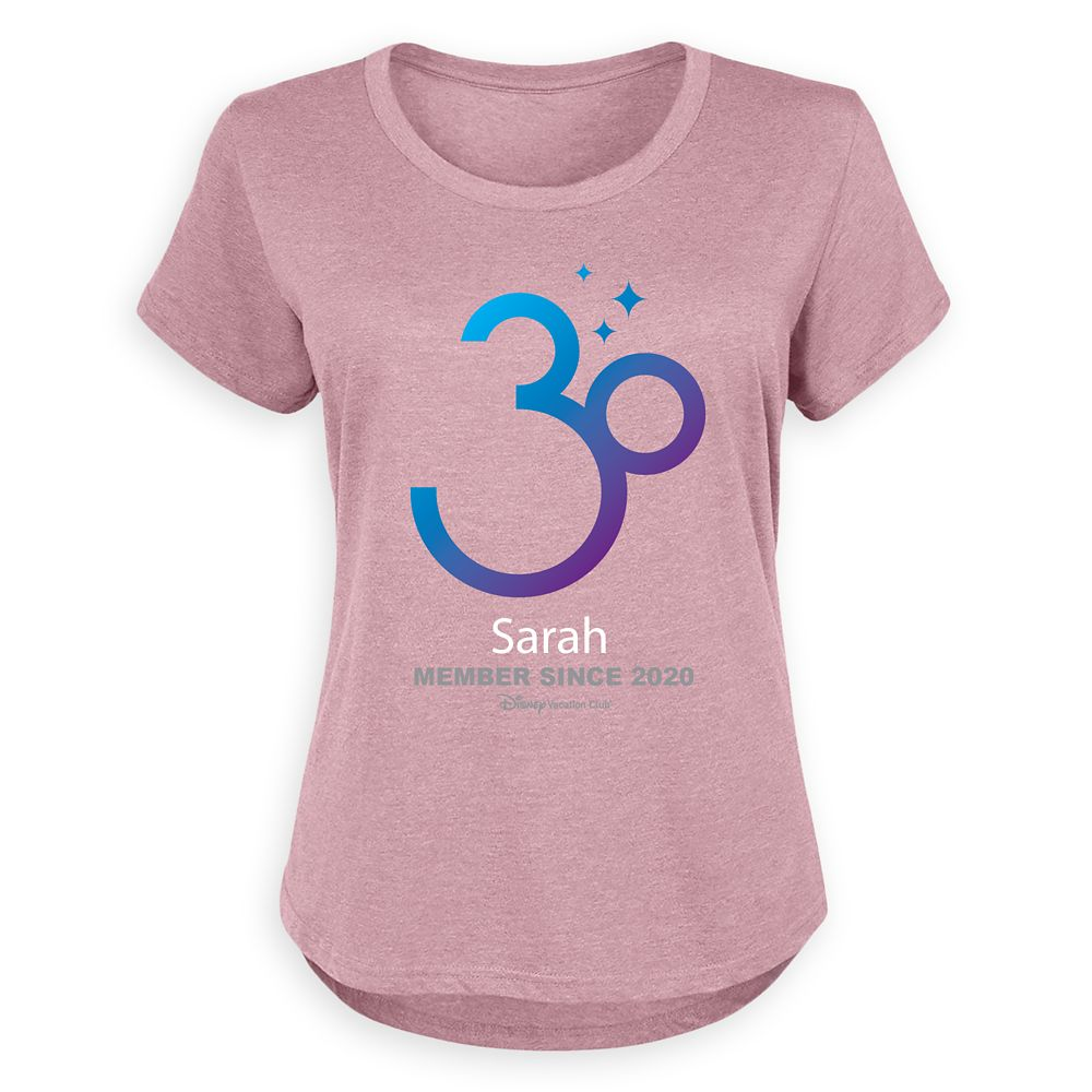 Disney Vacation Club 30th Anniversary Individual T-Shirt for Women – Customized