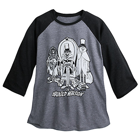 Hitchhiking Ghosts YesterEars Haunted Mansion Raglan Baseball T-Shirt for Adults
