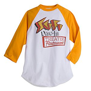 Sci-Fi Dine-In YesterEars Baseball Tee for Adults - Walt Disney World - Limited Release