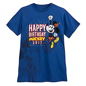 Mickey Mouse ''Happy Birthday, Mickey'' T-Shirt for Adults - Limited Release