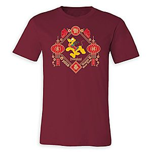 Pluto Lunar New Year 2018 T-Shirt for Adults - Disneyland