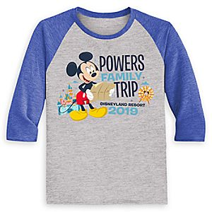 Mickey Mouse Family Vacation Raglan Shirt for